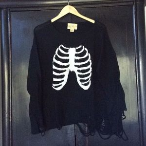 WILDFOX Sweater Sequin Ribcage